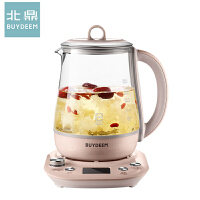 北鼎(buydeem)养生壶K165 家用玻璃电炖煮茶壶可预约蒸早餐养身1.5L 全新高清屏显