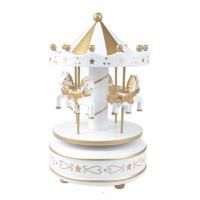 木质钢琴音八音盒礼盒木制旋转木马摆件天空之城音乐盒儿童节圣诞节礼物女孩送生日礼物