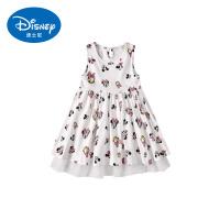 迪士尼童装女童2019新款夏装吊带裙宝宝背心裙儿童长裙子公主裙子