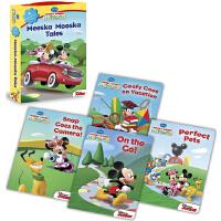 米奇妙妙屋 迪士尼动画4册纸板 礼盒装 英文原版绘本0 3岁 Mickey Mouse Clubhouse Meesk