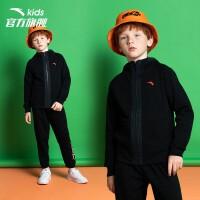 安踏童装旗舰店 男童连帽套装早秋季新款儿童卫衣裤子两件套A35931404