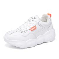 小熊鞋白色运动鞋女2019春季新款百搭韩版小白鞋女跑步鞋老爹鞋潮