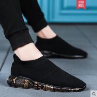 韩版潮流男士帆布鞋防臭透气袜子鞋板鞋潮鞋懒人一脚蹬老北京布鞋网红同款时尚户外新品