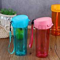 特百惠水杯500ml女塑料运动水杯便携夏季儿童水杯随手杯学生杯子