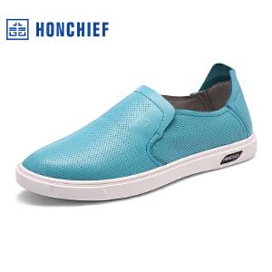 红蜻蜓旗下品牌HONCHIEF男鞋休闲皮鞋秋冬休闲鞋子男板鞋KTA7197