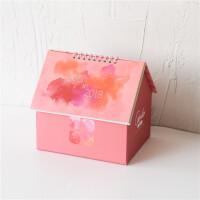 桌面收纳盒 创意可爱房子台历小清新文艺多功能记事日历