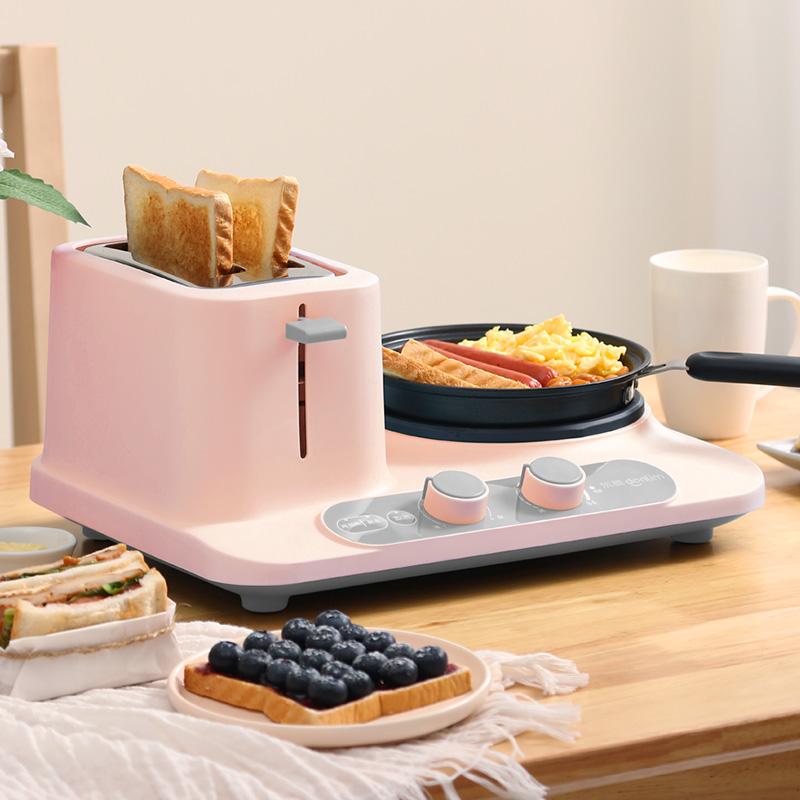 Donlim/东菱 DL-3405烤面包片三合一早餐机家用多功能小型多士炉