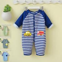 婴儿连体衣冬季加厚宝宝外出外穿新生儿衣服冬装棉衣爬服0-3个月6
