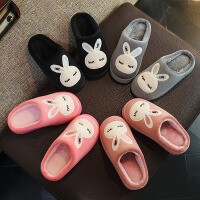 儿童棉拖鞋 男女童防滑居家保暖月子棉拖鞋2019秋冬情侣款家居棉鞋