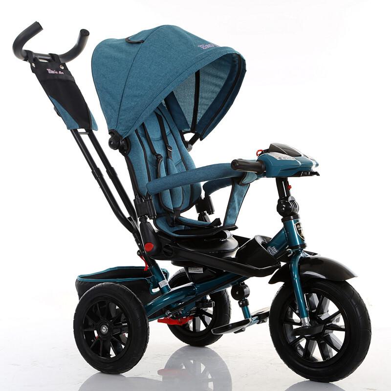 大号儿童三轮车小孩脚踏车1-3-5可旋转可躺2-4-6宝宝手推车YW143 萌宝出游季4.25-5.5跨店铺每满99减10,更多好物欢迎进店选购>&g