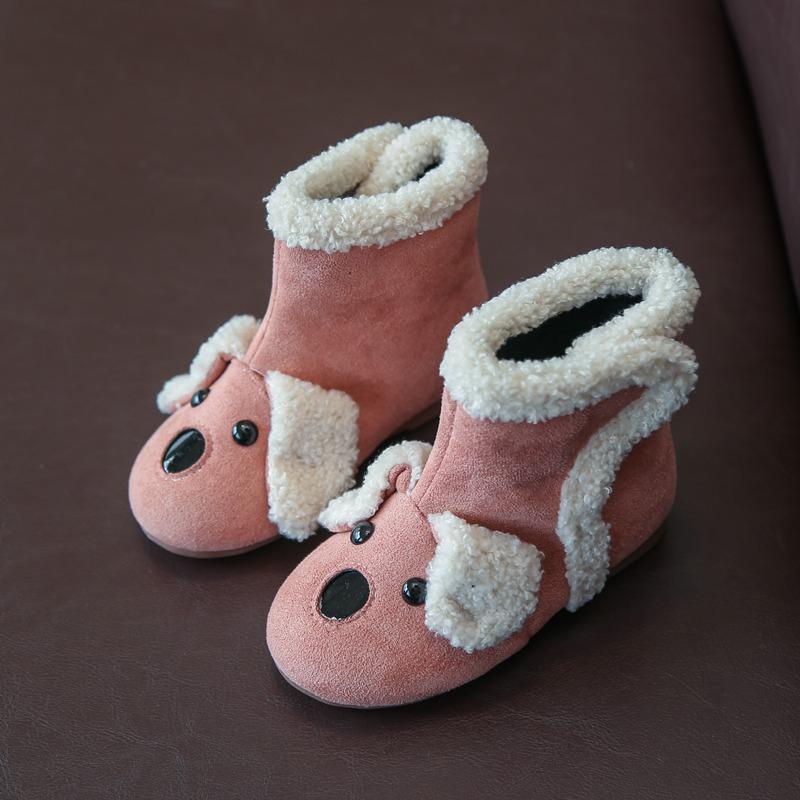 2018冬季新款童鞋儿童靴子雪地靴马丁靴女童短靴公主靴二棉靴