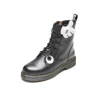 爱旅儿女鞋设计师定制点赞款方跟低跟马丁短靴EA68236
