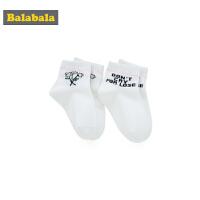 巴拉巴拉女童袜子春季新款短袜儿童棉袜保暖卡通小女孩透气两双装