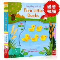 五只小鸭子Sing Along with Me Five Little Ducks英文原版绘本欧美经典儿歌童谣机关操作