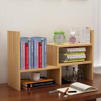简易书架 学生宿舍可伸缩带抽屉收纳置物架子桌面电脑桌桌上迷你儿童小书柜子
