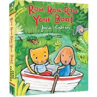 英文原版绘本 Row Row Row Your Boat 纸板书 韵文欧美儿歌童谣 幼儿早教绘本图画书 亲子共读 Ja