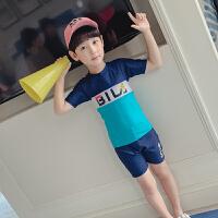 儿童泳衣小孩男童泳裤套装分体小中大童沙滩泳装宝宝游泳衣