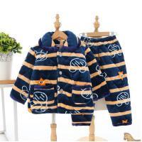 10男童棉袄棉9套装家居服法兰绒儿童睡衣12加厚中大童夹岁冬天814