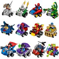兼容乐高积木人仔英雄金刚狼蝙蝠侠蜘蛛侠钢铁侠战车拼装玩具