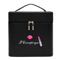 20190103005955836大容量化妆包可爱双层手提化妆箱大号护肤化妆品多层收纳盒小方包