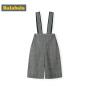 巴拉巴拉儿童裤子女童背带裤春季新款小童宝宝时尚百搭格子裤