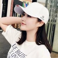棒球帽子女韩版潮百搭学生米字鸭舌帽户外春夏天防晒遮阳帽