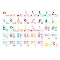 钢琴认音卡 88键钢琴五线谱音符贴幼儿儿童入门基础识谱认音磁铁卡片教学教具