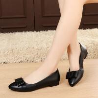 单鞋女平底鞋平跟小皮鞋软底休闲大码鞋