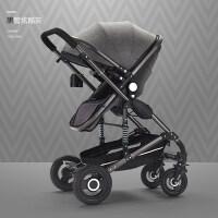高景观婴儿推车轻便折叠可坐躺宝宝手推车双向四轮避震新生车
