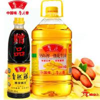 鲁花-5.436L 5S压榨一级花生油(赠500ml酱油)