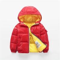 儿童银色轻便羽绒服外套中童面料鸭绒时髦冬装男女红色反