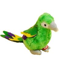 学语小鹦鹉 卡通可爱七彩鹦鹉公仔会小鸟叫毛绒电动玩具玩偶小孩娃娃礼物 标配