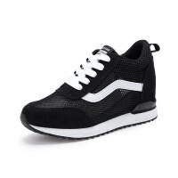 内增高运动鞋女春季网面透气休闲单鞋韩版坡跟松糕小白鞋女鞋