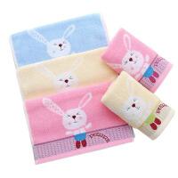 儿童毛巾 男女童家用卡通婴童洗脸纺绣花童巾柔软吸水宝宝面巾儿童小面巾