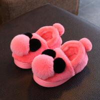 儿童棉鞋女二棉鞋加厚宝宝棉鞋1-3岁冬季女加绒居家冬季公主5拖鞋