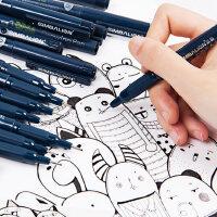 台湾雄狮针管笔防水勾线笔漫画描边描线动漫设计勾边笔手绘漫画专用笔