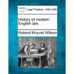 【预订】History of Modern English Law.