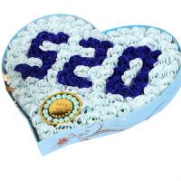 创意情人节爱心520加手链香皂花玫瑰花礼盒生日礼品礼物