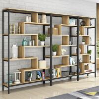 隔断书架置物架实木屏风落地展示书柜现代层架 隔断办公室多层创意展示柜陈列