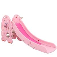 家用小朋友滑梯 小型加厚滑梯室内儿童塑料滑梯组合家用宝宝上下可折叠滑滑梯玩具 升级可爱熊粉紫呵护款 高扶手0-10岁