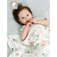 婴儿宝宝毯春秋季幼儿园盖被婴儿纱布盖毯宝宝小被子双层推车盖毯