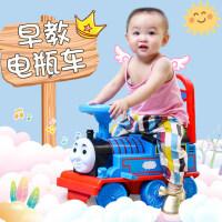 越诚托马斯小火车头套装轨道车电动小汽车儿童玩具男孩1-3岁可坐4