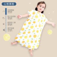 婴儿睡袋纱布分腿夏季薄款春秋冬款宝宝幼儿童防踢被神器四季通用