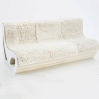 折叠靠背沙发 休闲个性创意家具 伸缩三人牛皮纸客厅长椅子