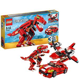 LEGO 乐高 CREATOR创意百变系列 红色的咆哮 积木拼插儿童益智玩具 31024