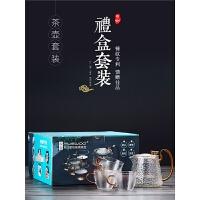 玻璃茶壶家用过滤泡茶器耐高温红茶茶具茶壶套装