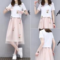 裙子短袖T恤+小清新学生连衣裙夏