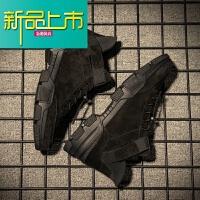 新品上市大码马丁鞋男45 韩版百搭英伦男靴子低帮冬季加绒男鞋学生潮