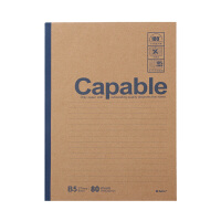 晨光笔记本B5无线装订本80页雅致办公记事本(1本)颜色随机发