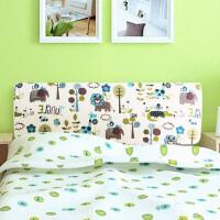 可拆洗订做木板床沙发靠枕靠垫榻榻米无床头软包大靠背双人床头罩 白色 卡通